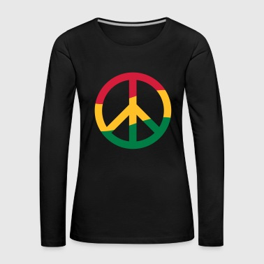 Peace Sign Rastafarian Reggae Music Peace Pace - Women's Premium Longsleeve Shirt