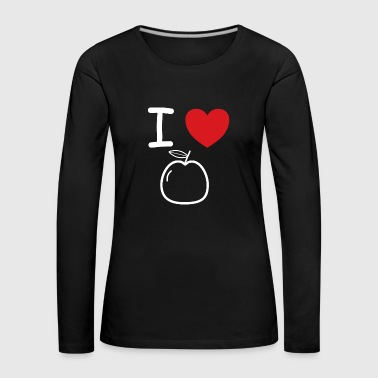 I love apples fruit gift idea - Women's Premium Longsleeve Shirt