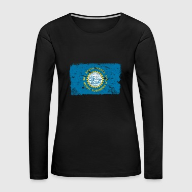 South Dakota vintage flag - Women's Premium Longsleeve Shirt
