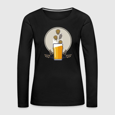 Beer splash - Women's Premium Longsleeve Shirt