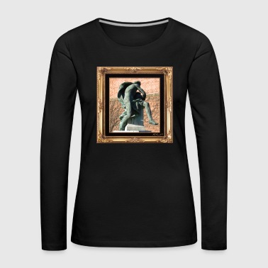 Antique statue in a chic setting - Women's Premium Longsleeve Shirt