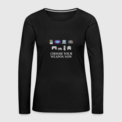 Retrogamer Zocker Videogames zocken no Shooter - Women's Premium Longsleeve Shirt