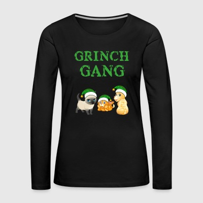 Grinch jule Cat Gang - Premium langermet T-skjorte for kvinner