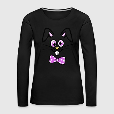 Cute Bunny Face Happy Easter - Women's Premium Longsleeve Shirt
