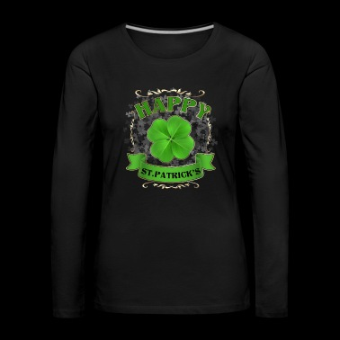 Happy st patricks day - Women's Premium Longsleeve Shirt