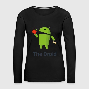 The Droid eats apple - Maglietta Premium a manica lunga da donna