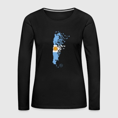 Flying/Argentina - T-shirt manches longues Premium Femme