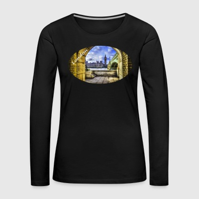 London / Westminster Bridge und Big Ben - Frauen Premium Langarmshirt