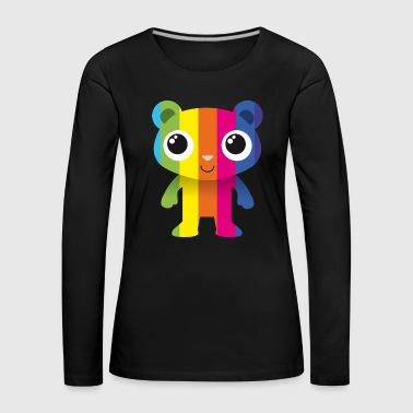 Bear with colored stripes - Women's Premium Longsleeve Shirt