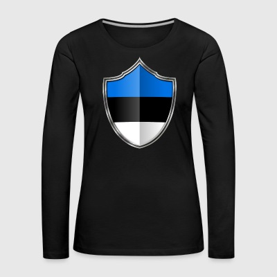 Estonia flag coat of arms silver 015 - Women's Premium Longsleeve Shirt