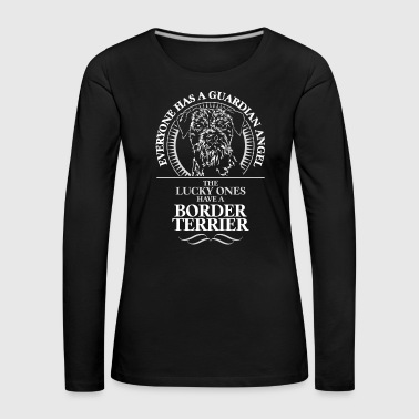 Border Terrier Guardian Angel - Långärmad premium-T-shirt dam