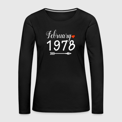 February 1978 - Women's Premium Longsleeve Shirt