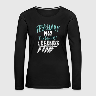 Februari 1967 The Birth Of Legends - Vrouwen Premium shirt met lange mouwen