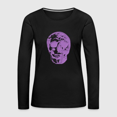 Skull purple - Women's Premium Longsleeve Shirt