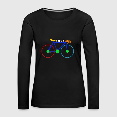 Bike Bike Love - Gift Idea Road Bike - Women's Premium Longsleeve Shirt