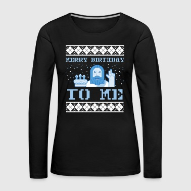 Ugly Christmas Sweater Jesus - Women's Premium Longsleeve Shirt