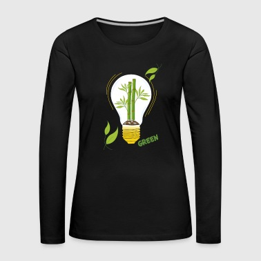 green light bulb - Women's Premium Longsleeve Shirt