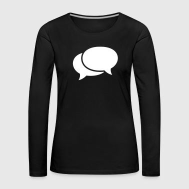 speech bubbles - Women's Premium Longsleeve Shirt