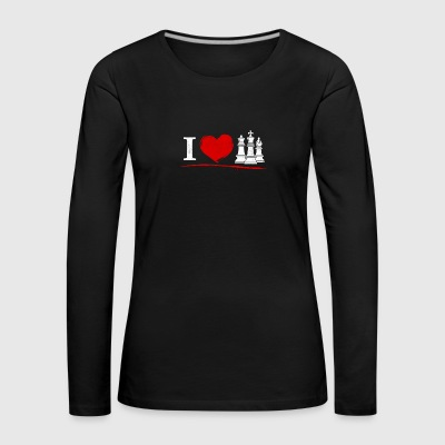 Chess - I love chess - Women's Premium Longsleeve Shirt
