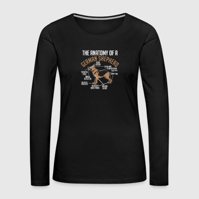 German Shepherd Anatomy Dog Dog Gift - Women's Premium Longsleeve Shirt