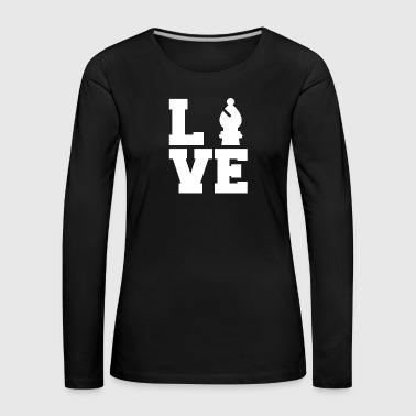 Chess / Chessboard: Love Chess - Women's Premium Longsleeve Shirt