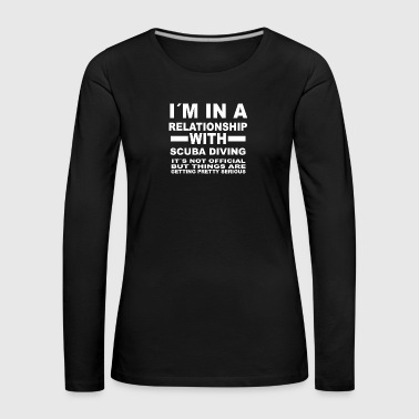 relationship with SCUBA DIVING - Frauen Premium Langarmshirt