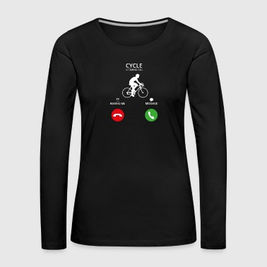 Call Mobile Anruf bicycle cycling bike - Frauen Premium Langarmshirt