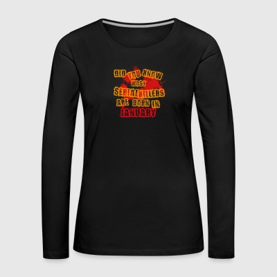 halloween scary suesses sour trick JANUARY - Women's Premium Longsleeve Shirt