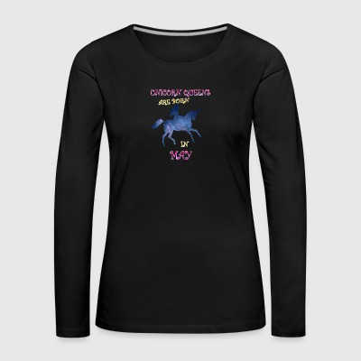 Unicorn queens are born in may - Women's Premium Longsleeve Shirt