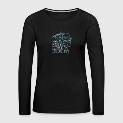 Eat rave repeat - Women's Premium Longsleeve Shirt