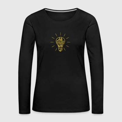 Jah Enlighten Us - Women's Premium Longsleeve Shirt