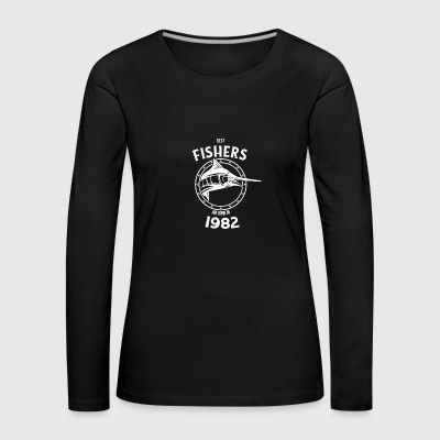 Present for fishers born in 1982 - Women's Premium Longsleeve Shirt