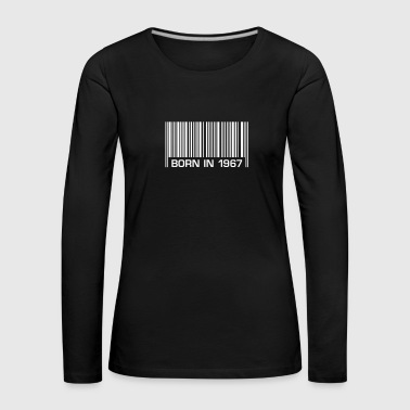 born in 1967 50th birthday 50th birthday barcode - Women's Premium Longsleeve Shirt
