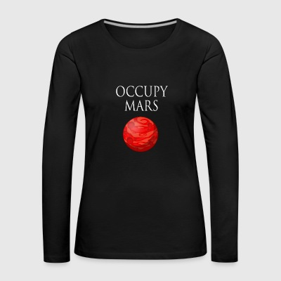 Occupy March Space - Women's Premium Longsleeve Shirt