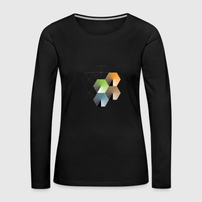 Hexagon - Frauen Premium Langarmshirt