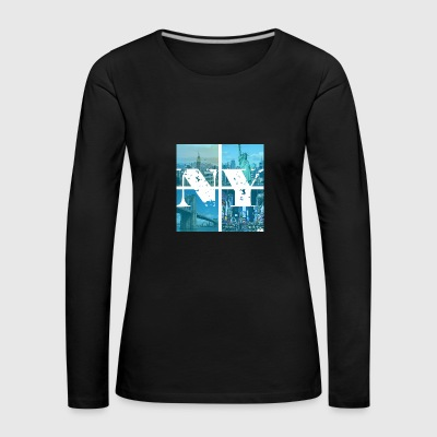 NEW YORK BLUE - Women's Premium Longsleeve Shirt