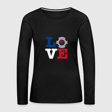 KOREA REP HEART - Women's Premium Longsleeve Shirt