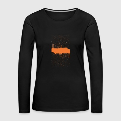 orange brush sketch - Women's Premium Longsleeve Shirt