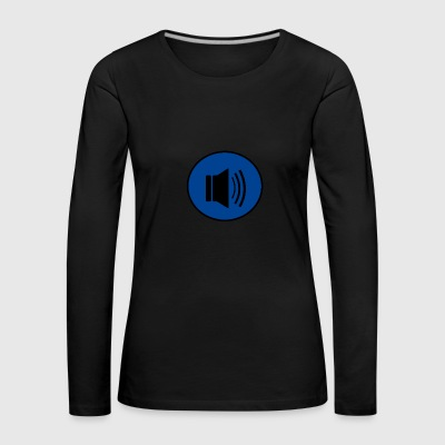 Audio button design - Women's Premium Longsleeve Shirt