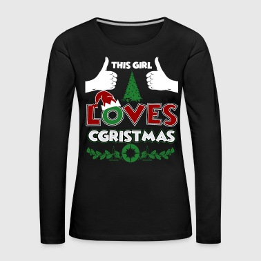 Christmas Girl Love Christmas Xmas Gift - Women's Premium Longsleeve Shirt