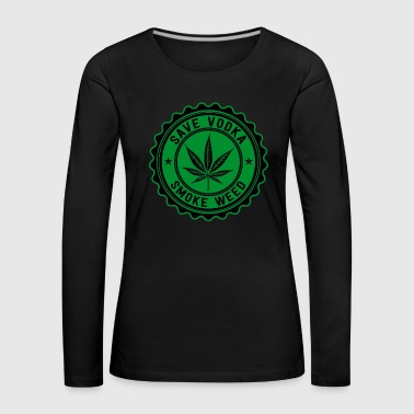 Weed vs. Vodka - Women's Premium Longsleeve Shirt