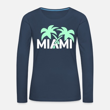 SUNSHINESTATE MIAMI Palm trees in neon style - Women's Premium Longsleeve Shirt