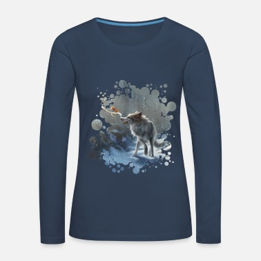 winter wolf - Women's Premium Longsleeve Shirt