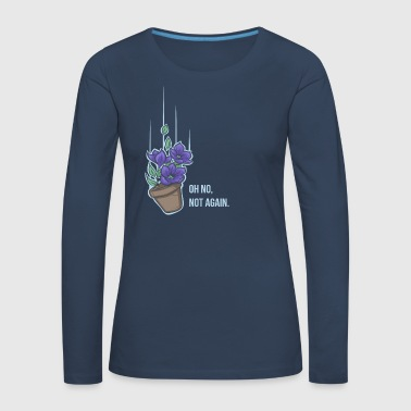 Hitchhikers Guide Thoughts of a falling bowl of petunias - Women's Premium Longsleeve Shirt