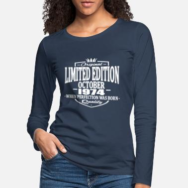 October Limited edition october 1974 - Women's Premium Longsleeve Shirt