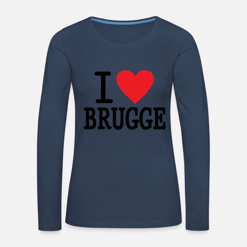 Love Long Sleeve Shirts - I Love Brugge RH - Women's Premium Longsleeve Shirt navy