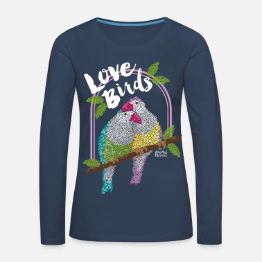 Animal Planet Vögel Love Birds - Frauen Premium Langarmshirt