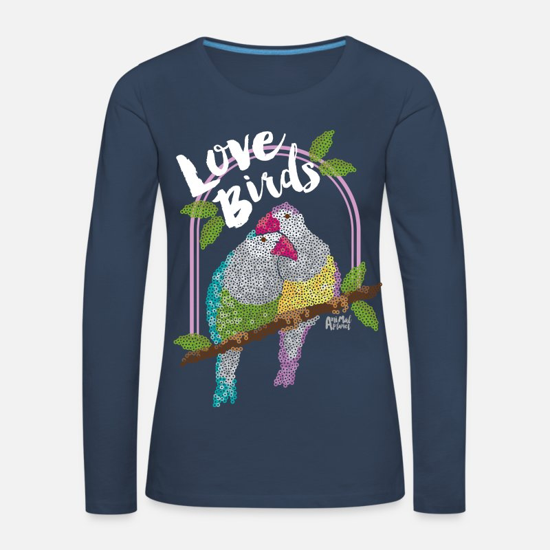 Love Long sleeve shirts - Animal Planet Women Longsleeve Shirt Birds - Women's Premium Longsleeve Shirt navy