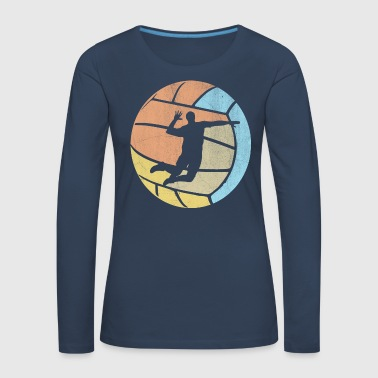 Beach Volley Volleyball Volleyball Vintage - T-shirt manches longues Premium Femme