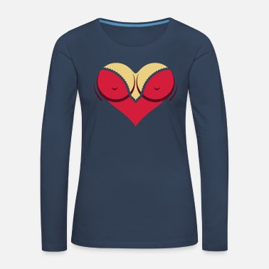 Cleavage Heart-shaped Woman's Breasts With Deep Cleavage - Women's Premium Longsleeve Shirt
